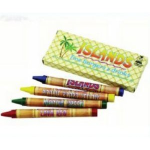 4 Count Custom Pack of Crayons