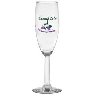 6 Oz. Napa Valley Flute Optic Stem Glass
