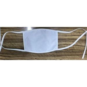 Cotton Face Mask w/Tie Strings