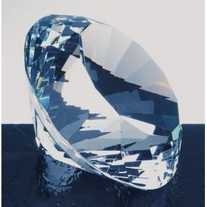 Diamond Crystal paperweight, 2 3/8