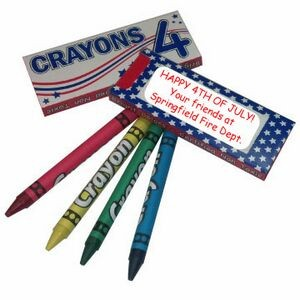 USA Pack 4-Ct Crayons
