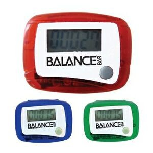 Pocket Pedometer w/ Belt Clip (45 Days)