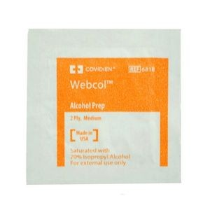 Webcol™ Alcohol Prep Wipe Individual Packet (Case of 1000)