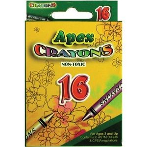 Crayons - 16 Count (Case of 48)