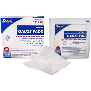 Dukal 12-Ply Sterile Gauze Pad 4 x 4 (Case of 1)