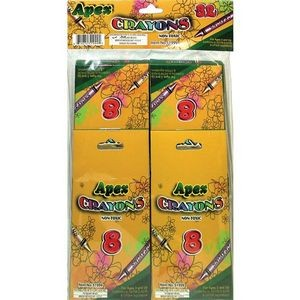 Apex Crayons 8ct- 4pk - boxed - 32 total crayons (Case of 48)