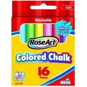 Roseart 16ct Colored Chalk (Case of 144)