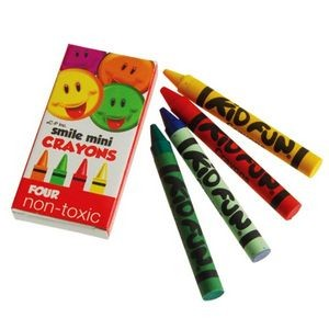 Mini Smiley Face Crayons - 4 Per Box (Case of 3)
