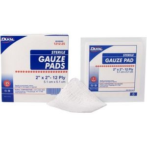Dukal 12-Ply Sterile Gauze Pad 2 x 2 (Case of 1)