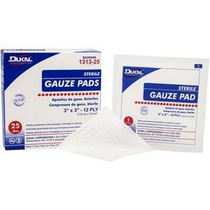 Dukal 12-Ply Sterile Gauze Pad 3 x 3 (Case of 1)