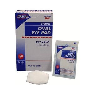 Dukal Sterile Oval Eye Pad 1-5/8x2-5/8 (Case of 1)